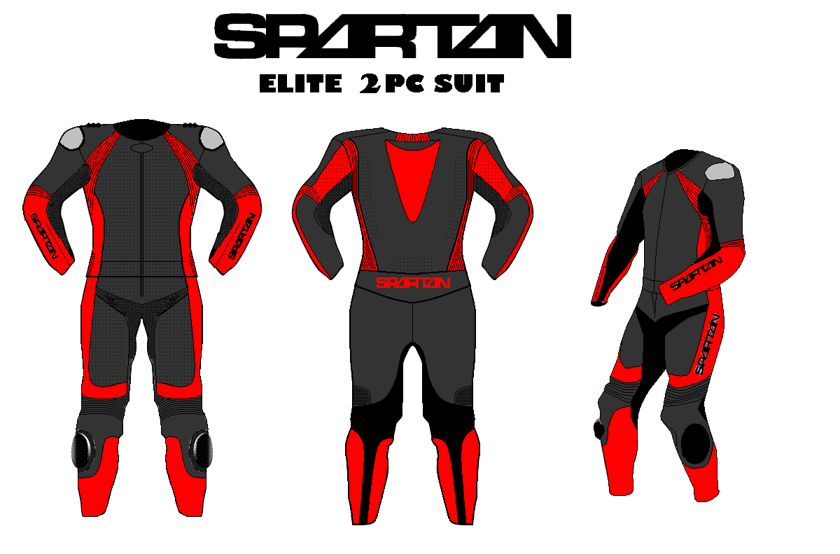 Elite Two-Piece Motorcycle Racing Leathers (Custom)