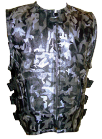 Camouflage Leather Motorcycle Vest