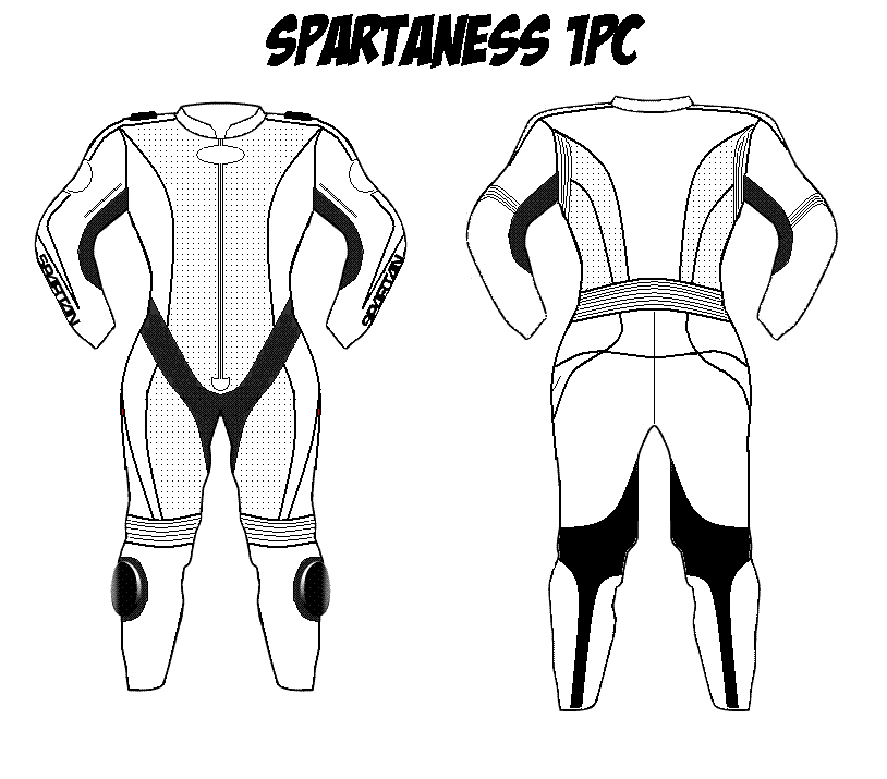 Spartaness One Piece Motorcycle Leathers Custom