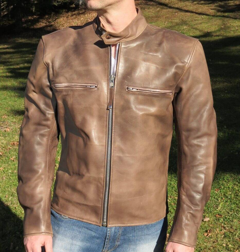 Classic Leather Motorcycle Jacket [Classic] - $250.00 : Premium ...