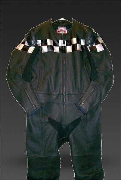 Retro Two-Piece Motorcycle Leathers (Custom)